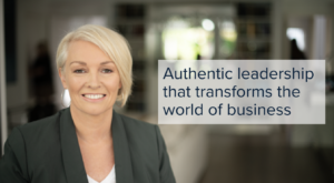 A portrait of Lisa May with a quote by Markd Global